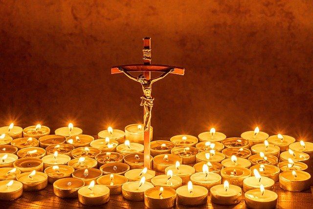 Kruis met licht